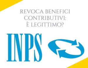 revoca benefici inps
